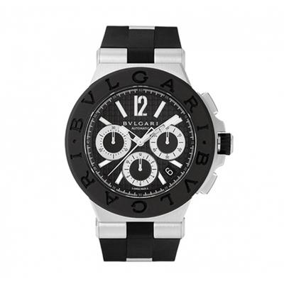 Bvlgari寶格麗 Diagono自動計時碼表黑色錶盤DG 42 BSCVDCH/ 42 mm