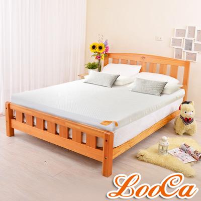 LooCa 特級天絲12cm頂級記憶床墊-加大