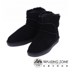 WALKING ZONE 經典熱銷款迷你雪靴短靴 女鞋-黑(另有棕)