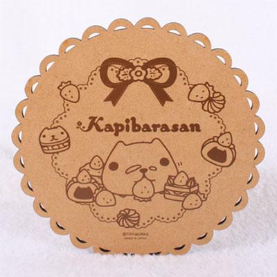 Kapibarasan 水豚君系列造型木製鍋墊
