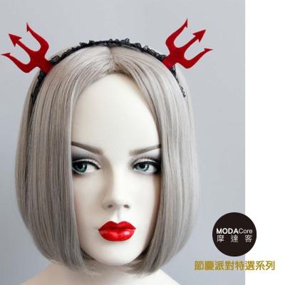 摩達客 萬聖節派對頭飾-紅黑小惡魔爪創意造型髮箍