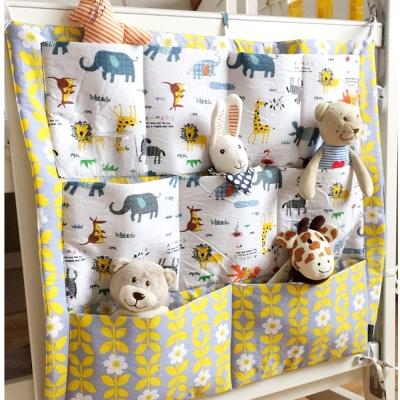 DF 童趣館 - 北歐設計風卡哇伊嬰兒床收納掛袋