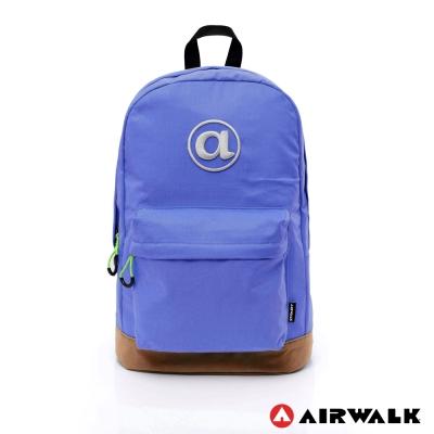 AIRWALK-頑色糖果系列純色筆電後背包-深藍