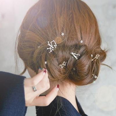梨花HaNA-韓國12星座星宿幸運妝飾髮夾