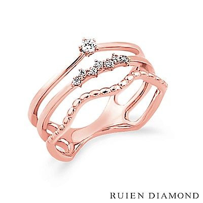 RUIEN DIAMOND 韓國輕珠寶 飾品 配件14K 玫瑰金 戒指 J5757