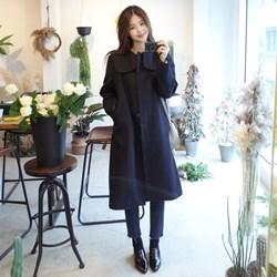韓國秋冬經典款毛呢大衣