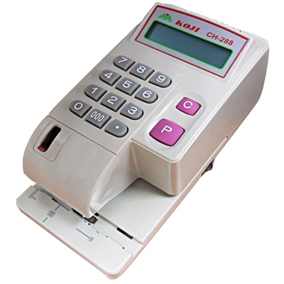 KOJI CH-288微電腦中文支票機