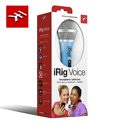 IK Multimedia iRig Voice Blue 行動裝置麥克風 天空藍