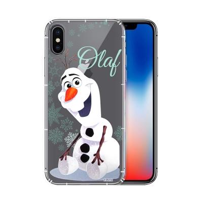 冰雪奇緣展場限定版 iPhone X 空壓殼(雪花雪寶)