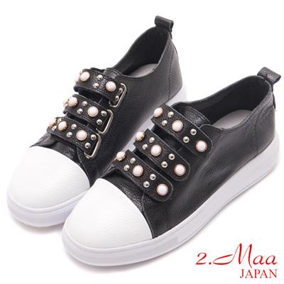 2.Maa-率性飾扣亮點後底休閒鞋-黑
