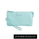 RABEANCO 迷時尚系列多分層羊皮手拎零錢包(大) 蒂芬妮藍