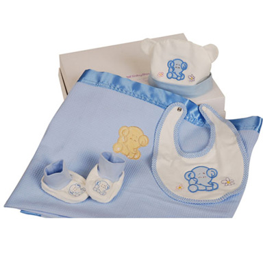 澳洲baby bow-寶貝4入禮盒(藍)