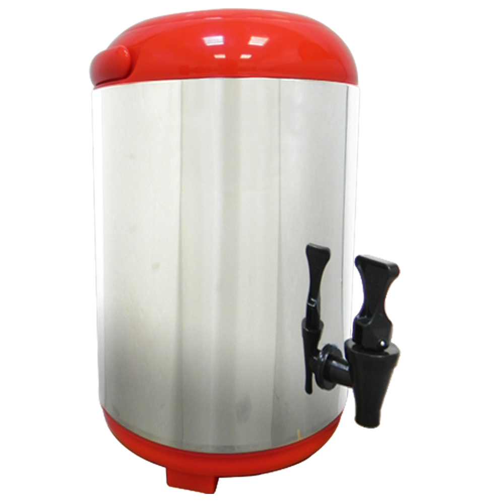 VOSUN 日式 #304 不鏽鋼10L親心保冰保溫茶桶(含提把)大開口保冷冰桶/陽光紅