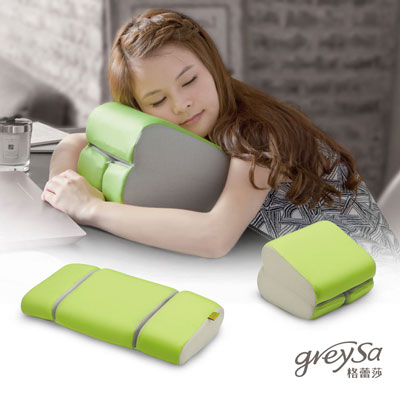 GreySa格蕾莎 折疊式午睡枕/腰靠枕 -八色任選