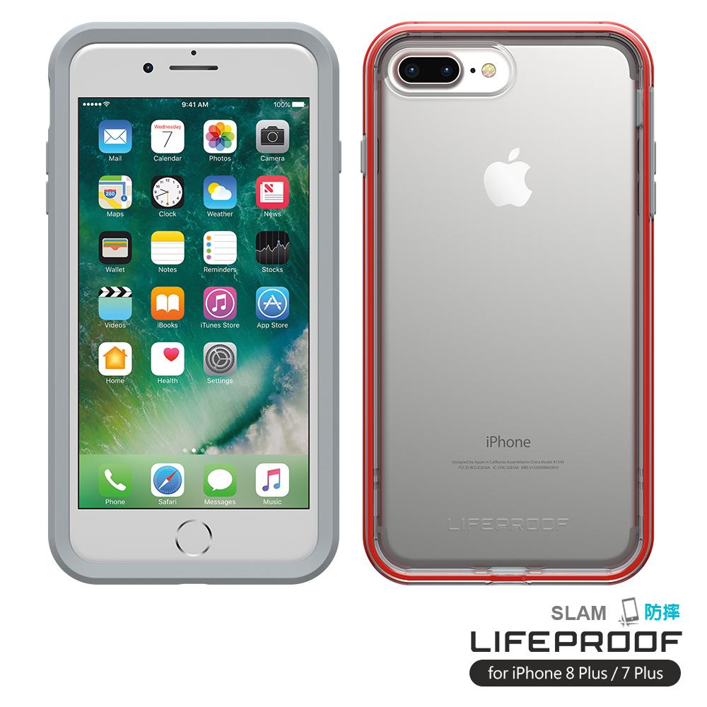 LIFEPROOF iPhone8+/7+專用 吸震抗衝擊防摔手機殼-SLAM(灰橙)