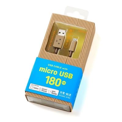 日本cheero阿愣micro USB充電傳輸線- 180 公分