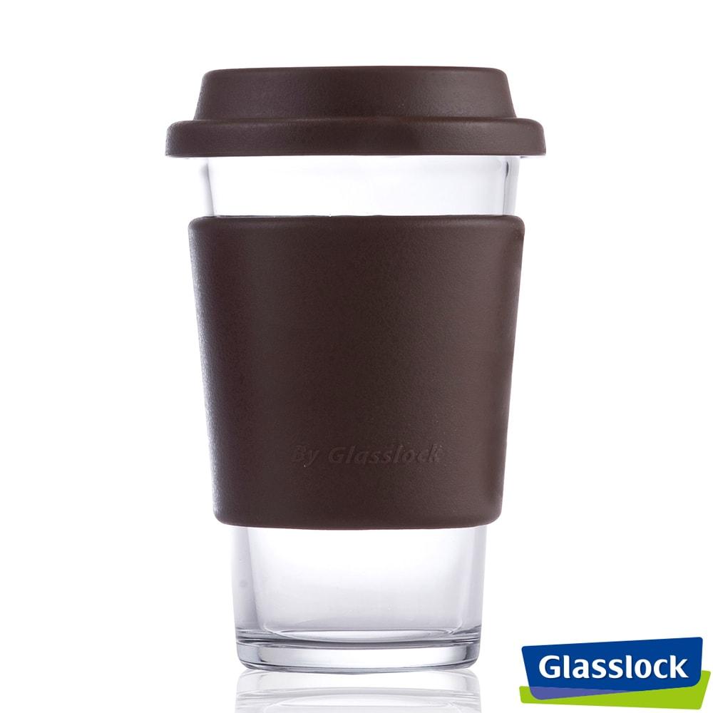Glasslock馬卡龍強化玻璃環保隨手杯 380ml(咖)