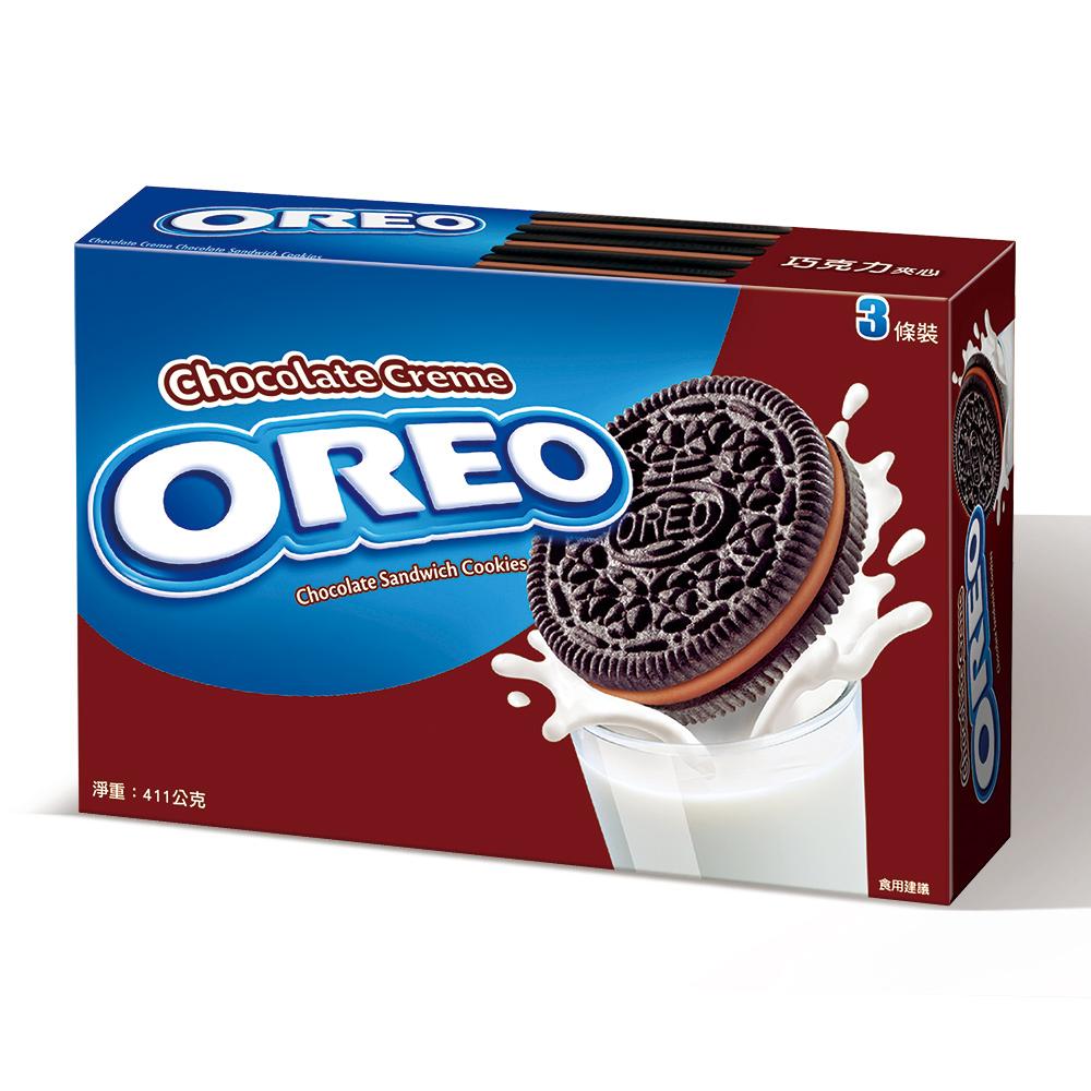 OREO奧利奧 巧克力夾心量販包(137gx3入)