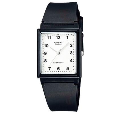 CASIO 超輕薄感簡約方型數字休閒錶-數字白面/30mm