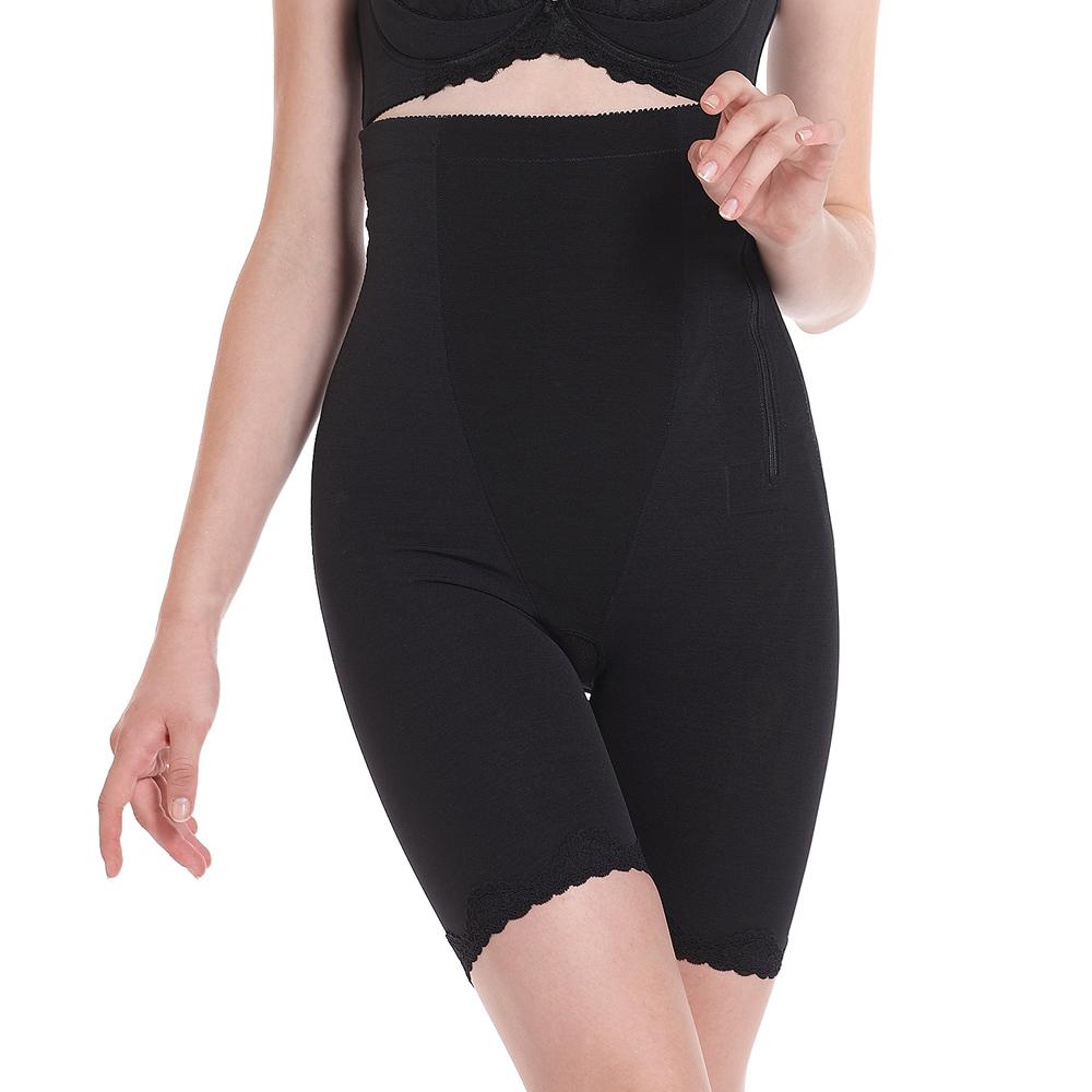 LADY 纖體塑身系 重機能蕾絲高腰束褲(黑色)