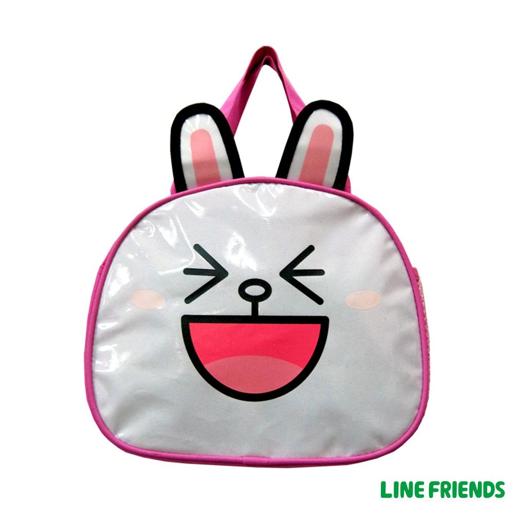 【LINE FRIENDS】造型便當袋(桃_兔兔)