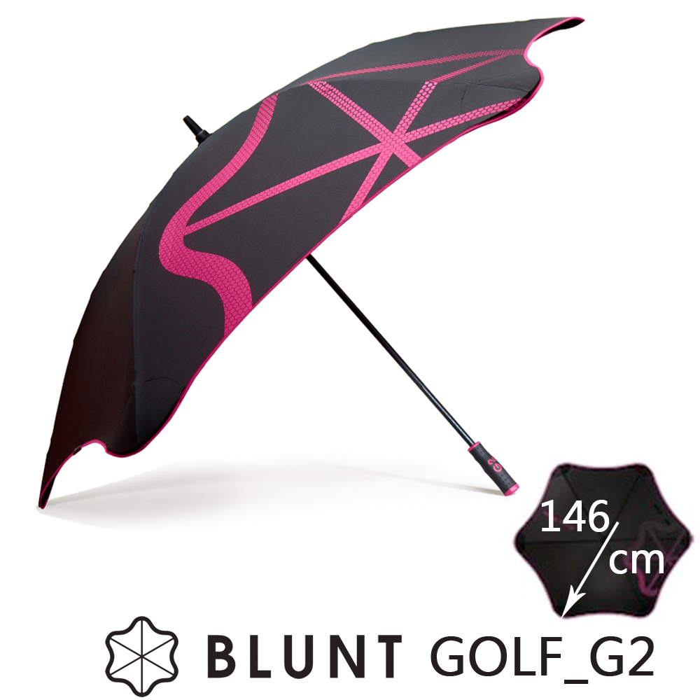 紐西蘭BLUNT 保蘭特 抗強風  抗UV 高爾夫球傘 大號 Golf _G2 (艷桃紅)