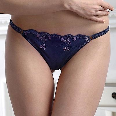 思薇爾 PANS BRA 花典系列系列S-M低腰丁字褲(爵士藍)