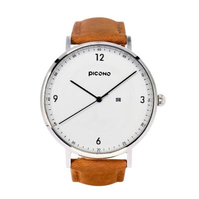 PICONO VINYL系列 輕薄真皮錶帶手錶(VL-6601)