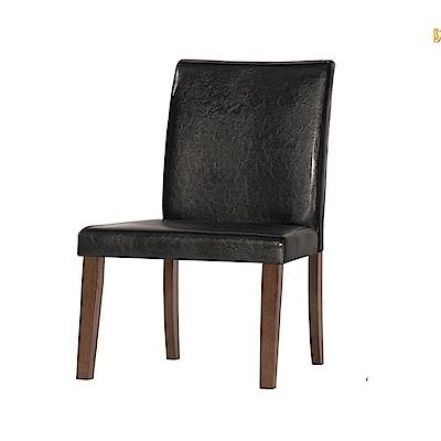 品家居 薇朵皮革實木餐椅2入組合-45x60x96cm免組