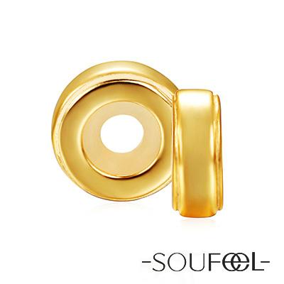 SOUFEEL索菲爾 925純銀珠飾 定位珠 金