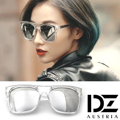 DZ 明星街頭 抗UV太陽眼鏡造型墨鏡(透框水銀膜)