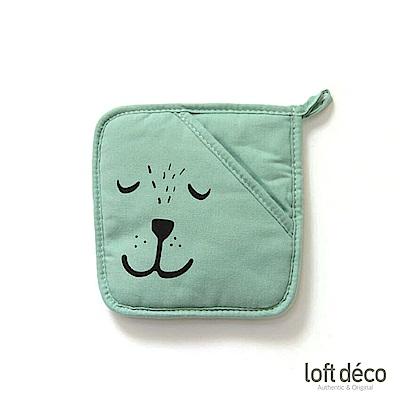 [絕版暢貨] Loft Deco | Green bear | 隔熱墊