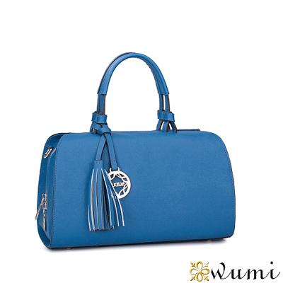 WuMi-無米-真皮維納斯波士頓包-晴空藍