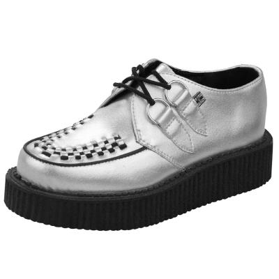 TUK金屬感經典5公分龐克鞋-銀