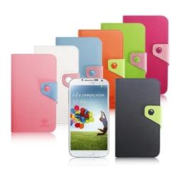 COOL Samsung Galaxy S4 i9500 亮眼雙色立式皮套