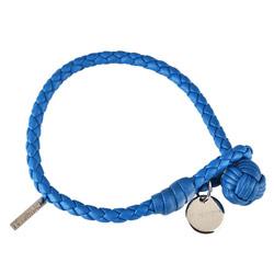 BOTTEGA VENETA 經典手工編織單環小羊皮手環(藏青)