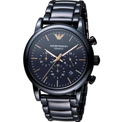 EMPORIO ARMANI Classic 英倫簡約風計時腕錶- 43 mm