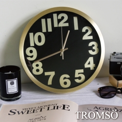 TROMSO風尚義大利金屬時鐘-金色時尚