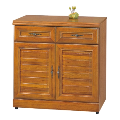 AS 愛瑪2.7尺實木樟木色餐櫃 81x42x81cm