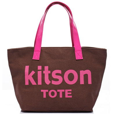 kitson 美式學院風迷你托特包(BROWN)