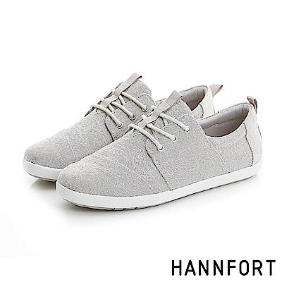 HANNFORT CALIFORNIA簡約線條質感休閒鞋-女-俐落灰