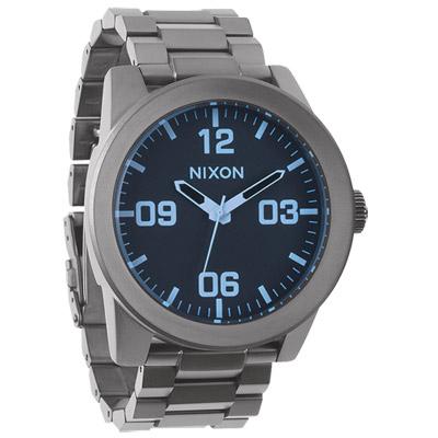 NIXON The CORPORAL SS 曠野風潮時尚運動腕錶-灰藍/ 48 mm