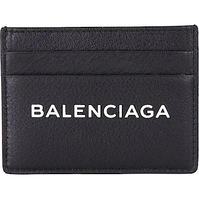 BALENCIAGA EVERYDAY LOGO 小牛皮萬用卡片夾(黑色)