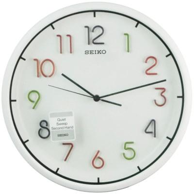 SEIKO 精工 絢麗立體數字刻度時鐘掛鐘-31.8cm