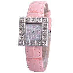 Cloie甜心晶鑽方程式時尚女錶-粉紅/23mm