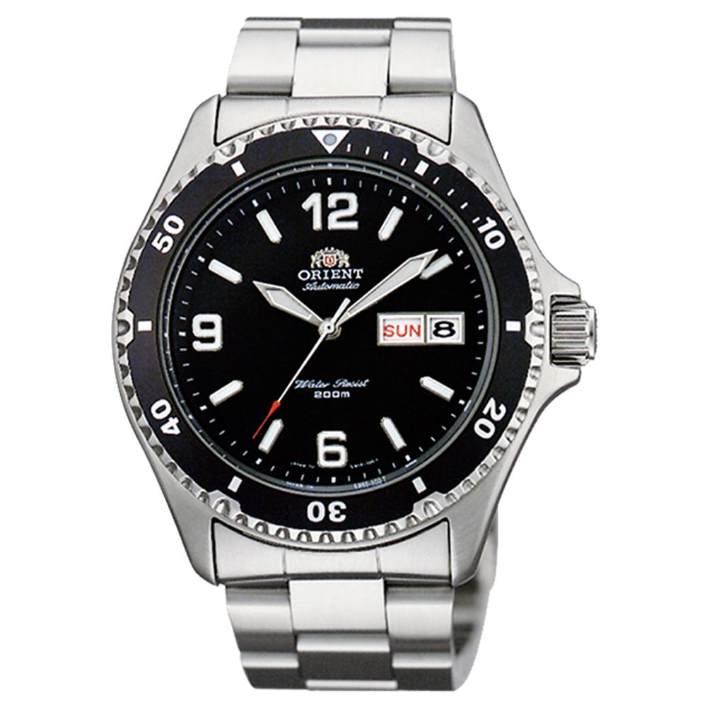 ORIENT 尖峰時刻自動上鍊機械運動腕錶(FAA02001B9)-黑/41.5mm