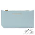 La Poche Secrete真皮 簡約真皮實用卡夾零錢手拿包-天空藍