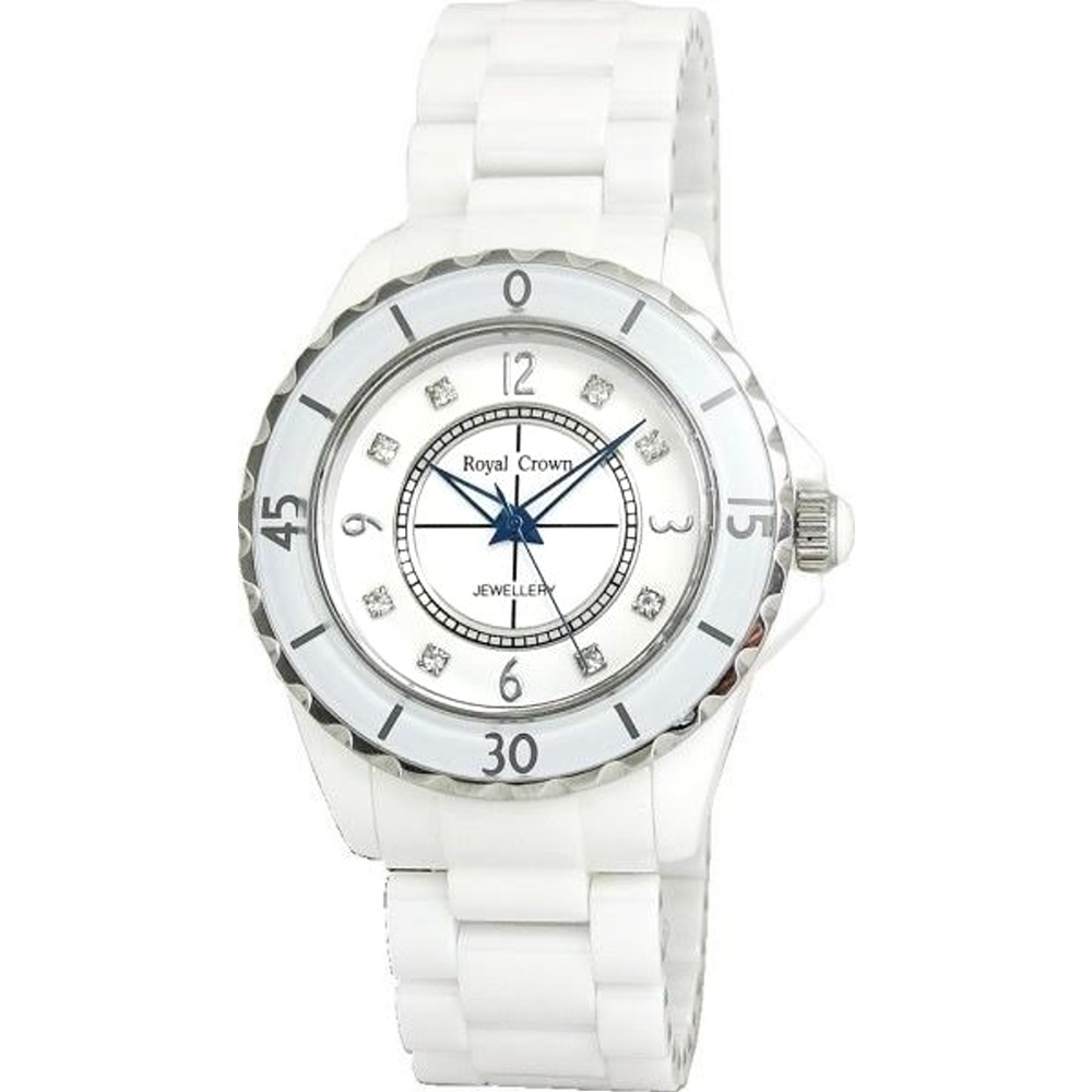 Royal Crown 風華絕代陶瓷錶-白/40mm
