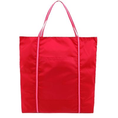 agnes b. 尼龍雙槓購物袋-紅