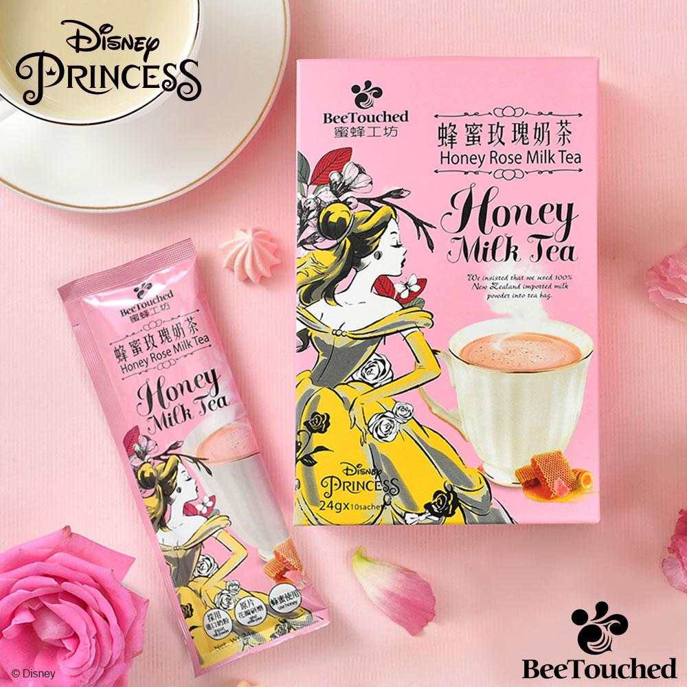 蜜蜂工坊 迪士尼公主系列蜂蜜玫瑰奶茶(24gx10包)
